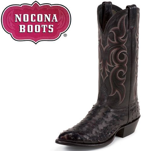 Black Cherry Full Quill Ostrich Boots