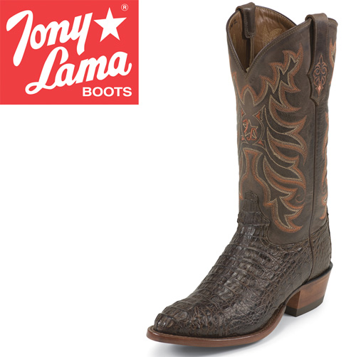 Tony Lama Chocolate Caiman Boots