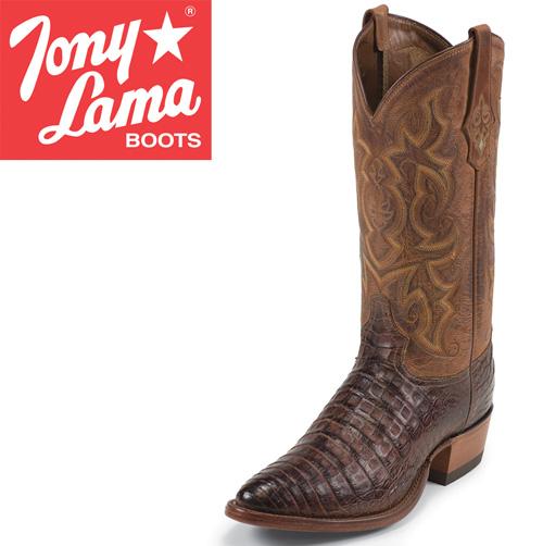 Tony Lama Cognac Caiman Boots