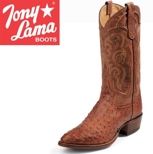 Tony Lama Cognac Ostrich Boots