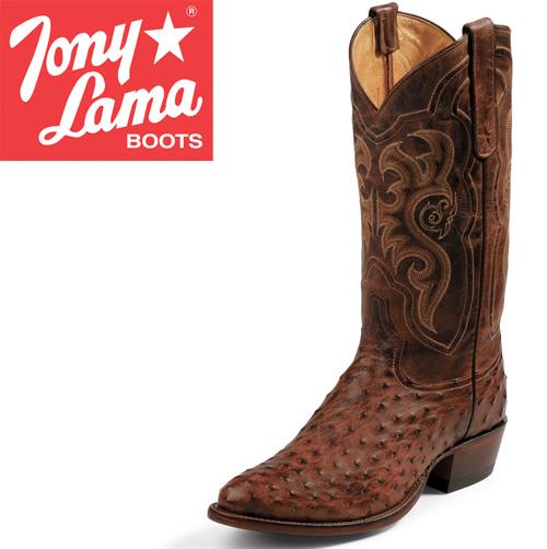Tony Lama Chocolate Ostrich Boots