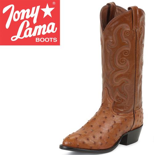 Tony Lama Peanut Brittle Full Quill Ostrich Boots