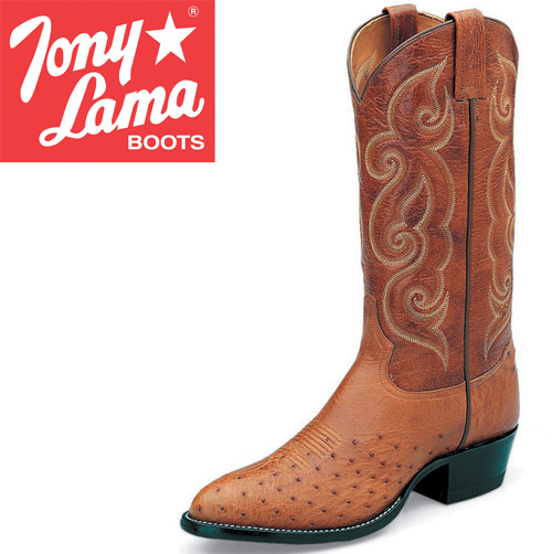 Tony Lama Peanut Brittle Smooth Ostrich Boots