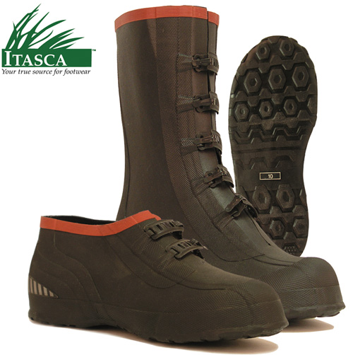 Itasca Mud Walker 5 Buckle Rubber Overshoes