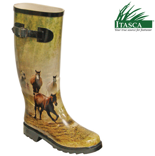 Itasca Women's Misty Pony Rubber Boots