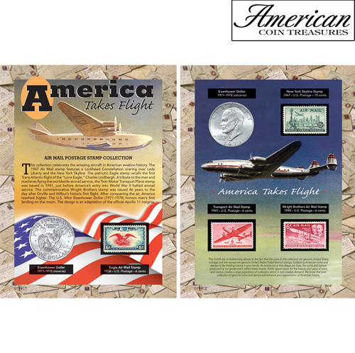 America Takes Flight Coin & Stamp Collection