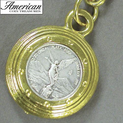 Mustard Seed Keychain with 1/20 Oz Silver Libertad Angel
