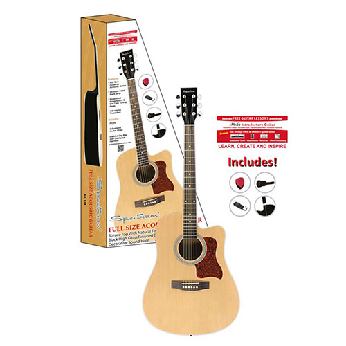 Full Size Cutaway Acoustic Guitar Pack
