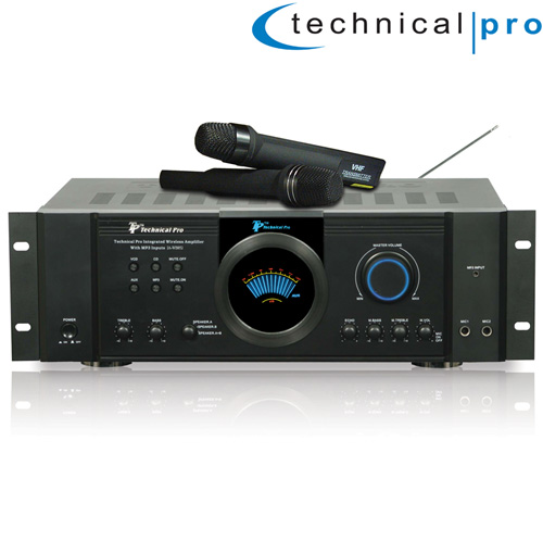 Integrated Amp with 2 Wireless Mics