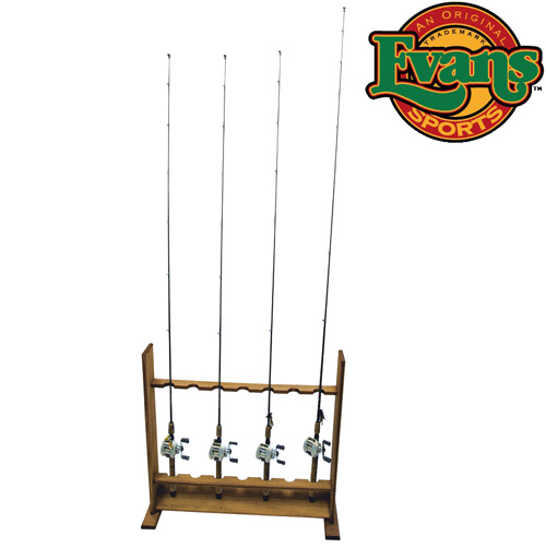 Evans Sports Wooden Standing Rod Rack
