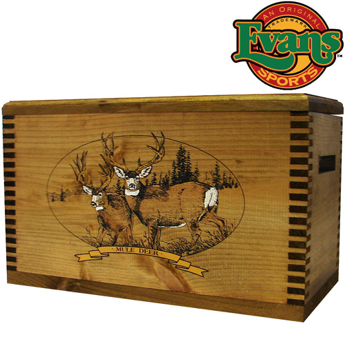 Evans Sports Wooden Hunting Accessory Box