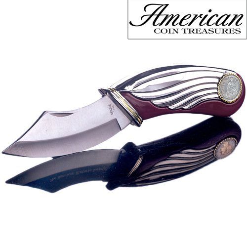 Seated Liberty Silver Dime Pocket Knife