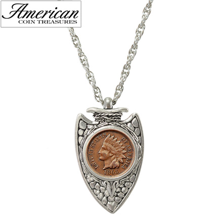 Civil War Coin Arrowhead Pendant