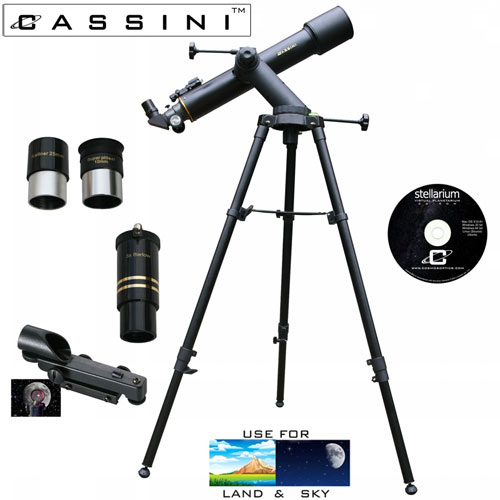 Tracker Refractor Telescope Kit - 600 x 90