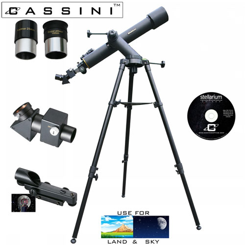 Tracker Refractor Telescope Kit - 720 x 80
