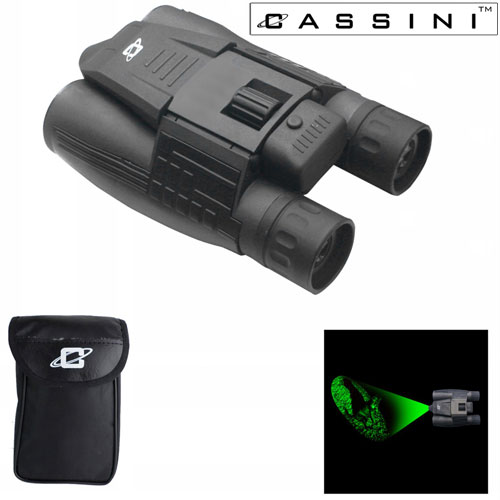 Day/Night Green Laser Binocular - 10 x 32