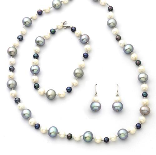 White/Black/Grey Pearl Bracelet