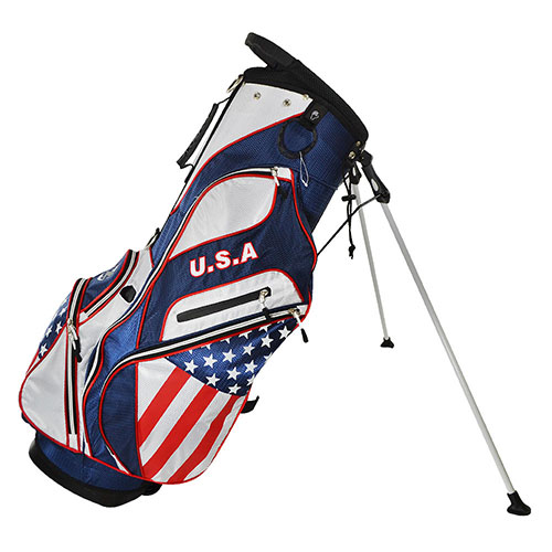 USA Flag Golf Stand Bag