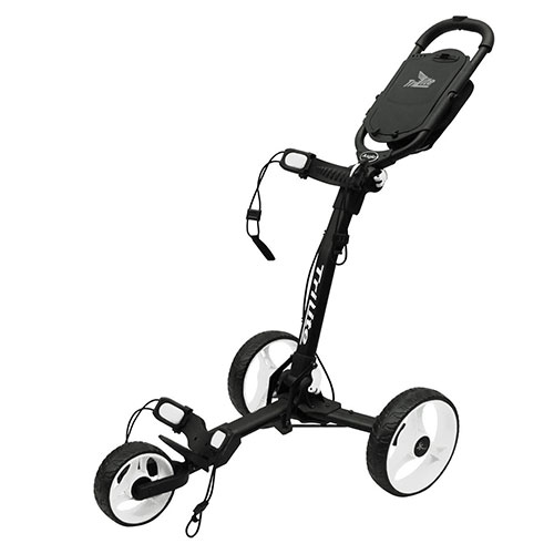 Black/White TriLite 3-Wheel Push Cart