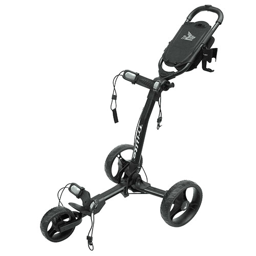 Black TriLite 3-Wheel Push Cart