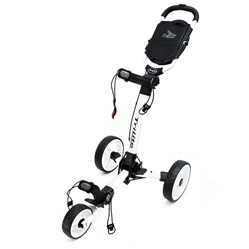 White TriLite 3-Wheel Push Cart