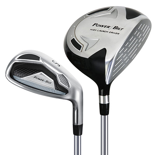 9-12 year old Powerbilt Jr. Golf Set - Silver