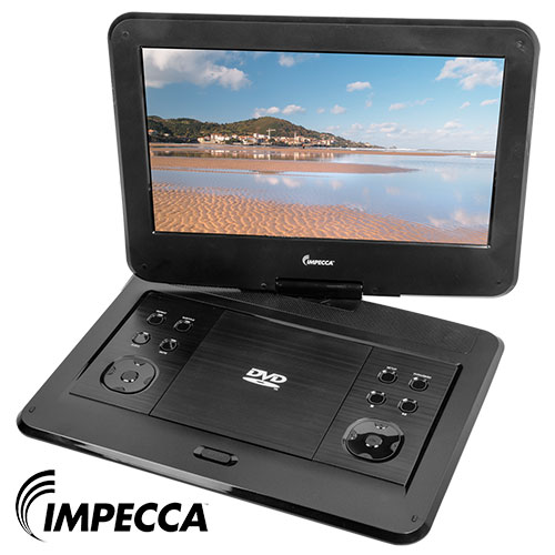 Impecca 13.3 Inch Portable Swivel DVD Player