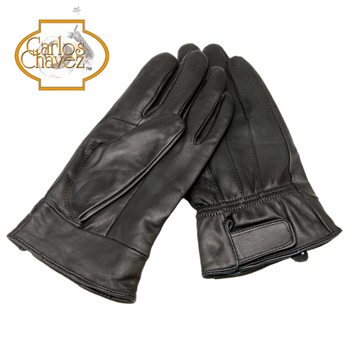 Leather Insulated Gloves - Black