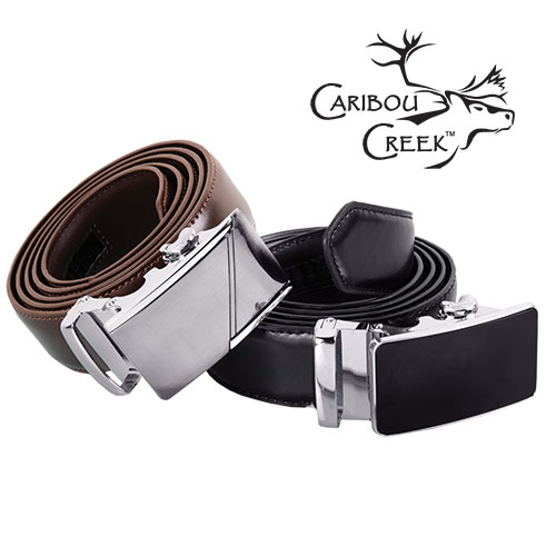 Caribou Creek Men's Brown Adjustable Belt