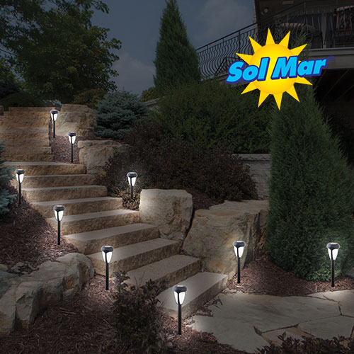 10 Piece Color Changing Solar Lights