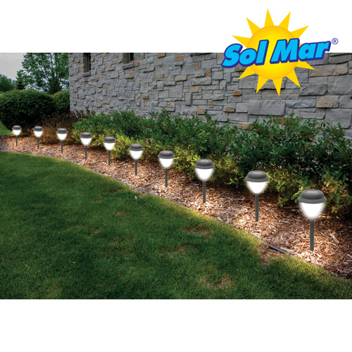 Sol Mar Solar Garden Lights - 10 Pack