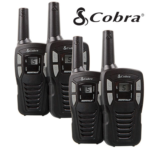 2 Pair Cobra 16-Mile GMRS Radios