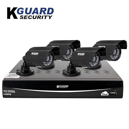 K-Guard 8-Channel/4-Camera DVR Security System