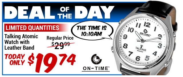 35% Off Talking Atomic Watch - WAS $29.99 - Deal of the Day $19.74