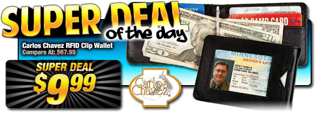 86% Off Carlos Chavez RFID Clip Wallet - Compare at $67.95 - Super Deal $9.99