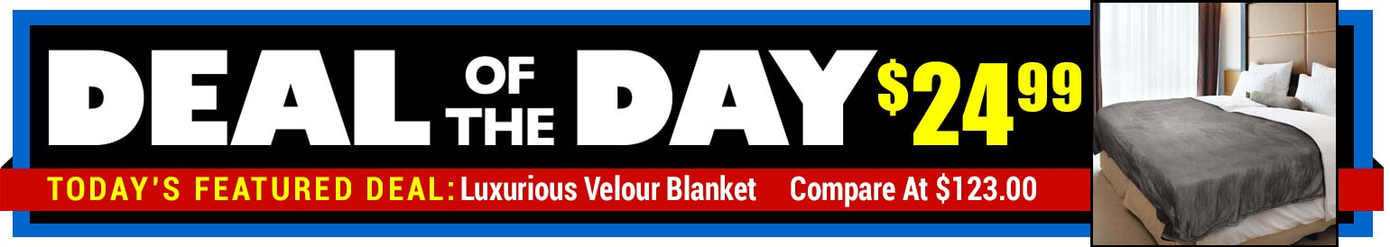 80% Off Velour Blanket - Compare at $123.00 - Deal of the Day $24.99