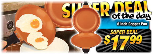 Lowest Price EVER: Flip Sautee/Frying Copper Pan - Super Deal $17.99