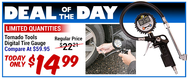 75% Off Tornado Tools Digital Tire Gauge - Compare at $59.95 - Deal of the Day $14.99