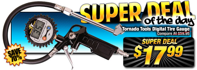 70% Off Tornado Tools Digital Tire Gauge - Compare at $59.95 - Super Deal $17.99