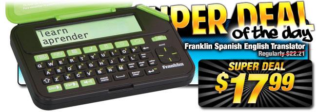Lowest Price EVER: Franklin Spanish English Translator Super Deal $17.99
