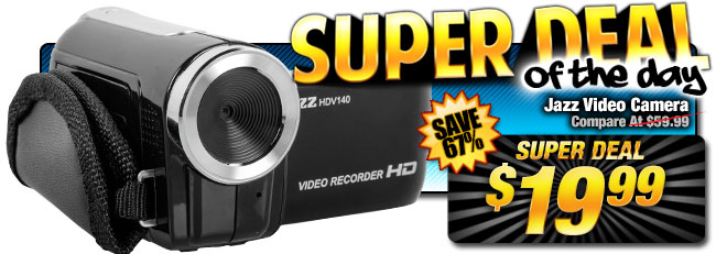 67% Off Jazz HD Video Camera - Compare at $59.99 - Super Deal $19.99
