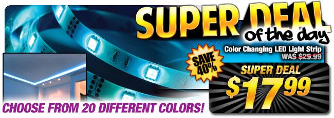 41% Off Color Changing LED Light Strip - WAS $29.99 - Super Deal $17.99