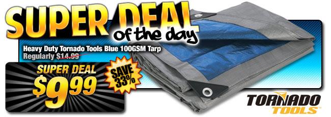 34% Off Heavy Duty Tornado Tools Tarp - WAS $14.99 - Super Deal $9.99