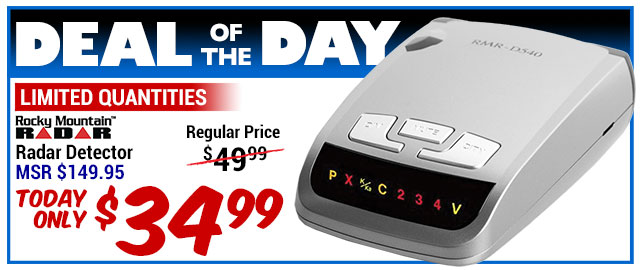 74% Off Rocky Mountain RMR-D540 Radar Detector - MSR $149.95 - Deal of the Day $39.99