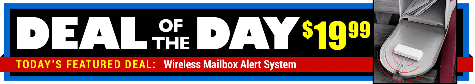67% Off Mailbox Alert System - Compare at $59.99 - Deal of the Day $19.99