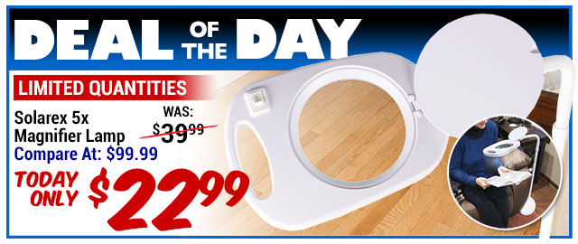 78% Off Solarex 5x Magnifier Lamp - Compare At $99.99 - Super Deal $22.99
