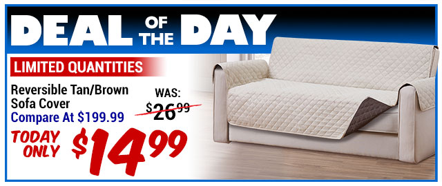 93% Softie Reversible Sofa Furniture Cover - Compare At $199.99 - Super Deal $14.99