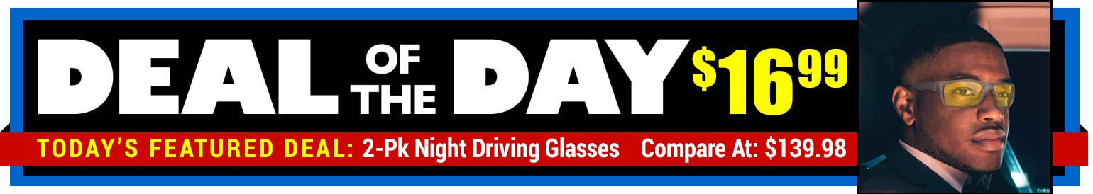 88% Off Shark Eyes HD Night Driving Glasses - Compare At $139.98 - Deal of the Day $16.99