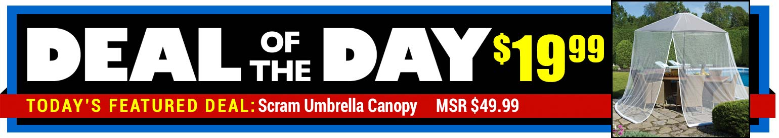 61% Off Scram Umbrella Canopy - MSR $49.99 - Deal of the Day $19.99
