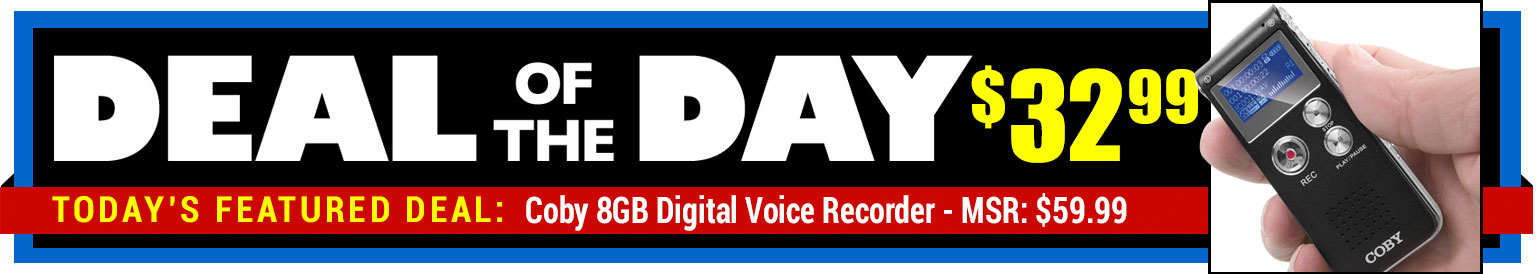 34% Off Coby 8GB Digital Voice Recorder - MSR $59.99 - Deal of the Day $32.99